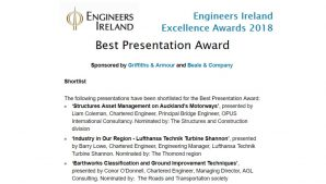 2018 Engineers Ireland Excellence Awards